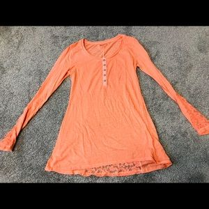 Orange long-sleeve